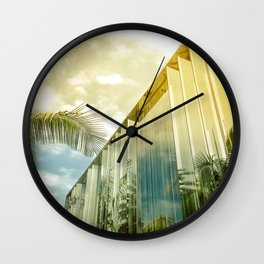 Beverly Hills - Palm Reflections II Wall Clock