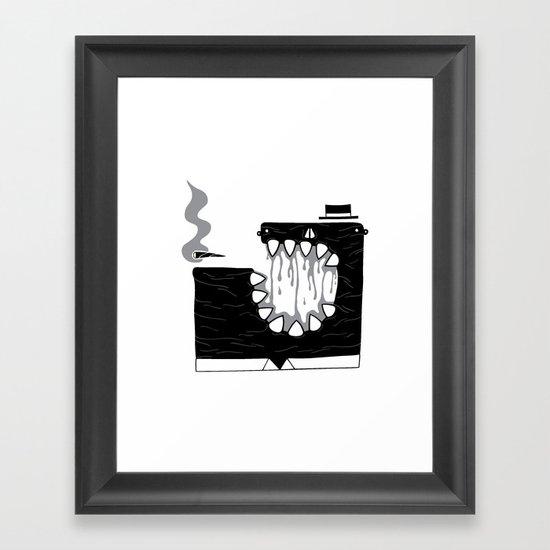Zombie Boss Framed Art Print