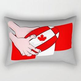Canada Rugby Flag Rectangular Pillow