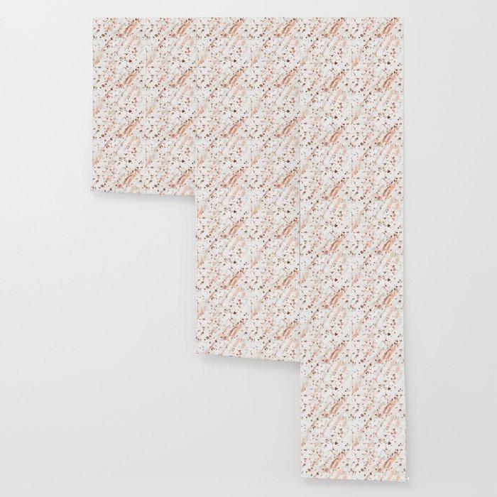Pink Quartz Terrazzo + Rose Gold Marble Wallpaper
