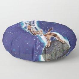 Lightning Cat Floor Pillow