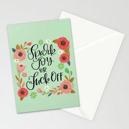 Pretty Swe*ry: Spark Joy or Fuck Off Stationery Cards