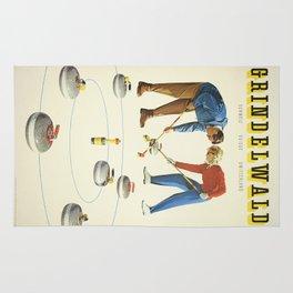Grindelwald, Swiss Vintage Travel poster Rug
