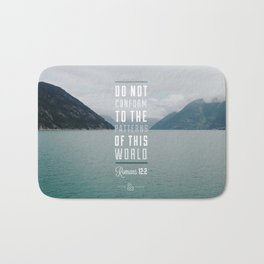 Romans 12:2 Bath Mat