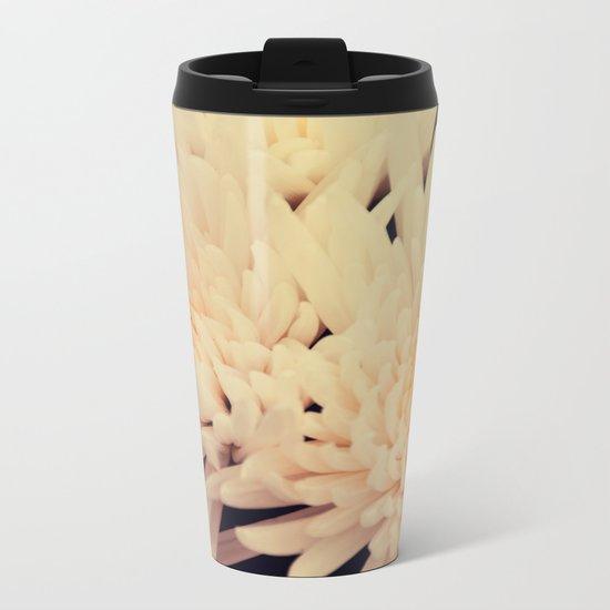 Gorgeous white dahlia Metal Travel Mug