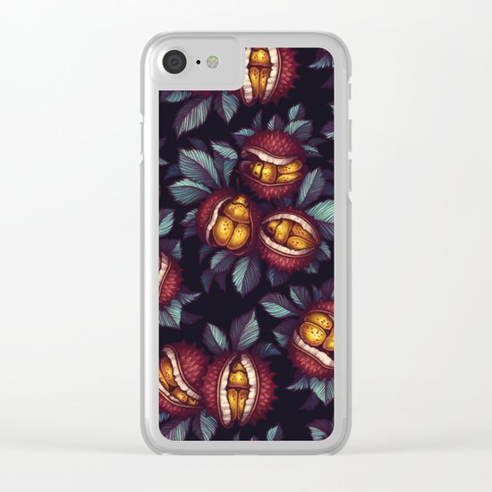 Beetle Pattern Clear iPhone Case