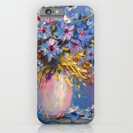 Bouquet of cornflowers iPhone Case