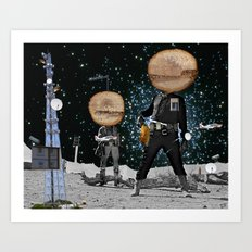 Final Shot in Space Collage Art Print