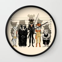 high Wall Clocks featuring Unusual Suspects by castlepöp
