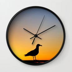 Seagull Sunset Wall Clock