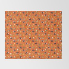 Thanksgiving and Football Pattern Throw Blanket
