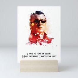 Stephen seagal splatter quotes Mini Art Print
