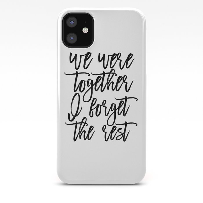 Walt Whitman Poems We Were Together I Forget The Restlove Quote Love Signgift Idea Iphone Case By Alextypography
