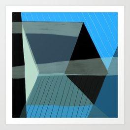 Blue Architecture 4 Art Print
