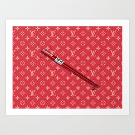 SUPREME CHOPSTICKS Art Print