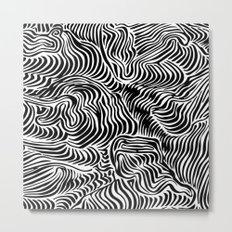 black flow Metal Print