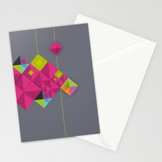 Optical illusion_grey Stationery Cards