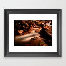 Long Exposure Waterfall  Framed Art Print