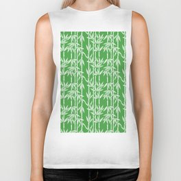 Bamboo Rainfall in Sullivan Green/White Biker Tank