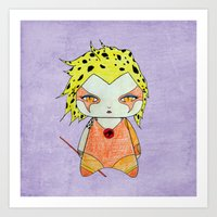 thundercats Art Prints featuring A Girl - Cheetara (Thundercats) by Christophe Chiozzi