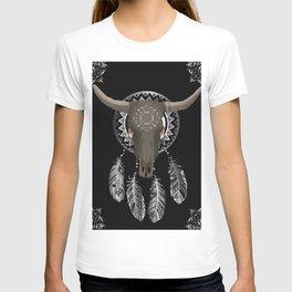 Buffalo skull dream catcher T-shirt