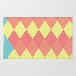 Geometric Summer Pastel Art Rug