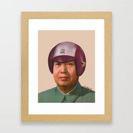 Helmet Mao Framed Art Print