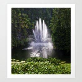 Butchart Garden Fountain Art Print