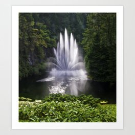 Butchart Garden Fountain Art Print