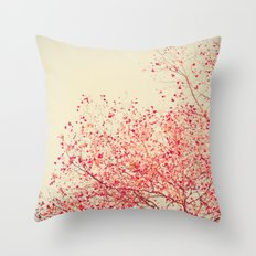 Pink fall over yellow II Throw Pillow