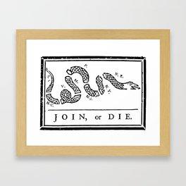 Join, or Die Framed Art Print