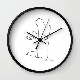 Demeter Moji d10 4-4 w Wall Clock