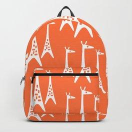 Mid Century Modern Giraffe Pattern 221 Orange Backpack