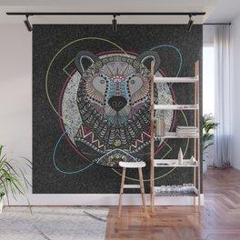 Neon Tribal Bear Wall Mural