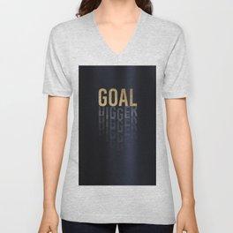 Goal Digger - Gold on Black Unisex V-Neck