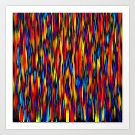 primary verticals on black Art Print