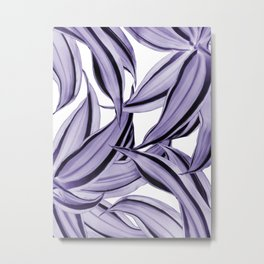 Dracaena Tropical Leaves Pattern Ultra Violet #1 #tropical #decor #art #society6 Metal Print