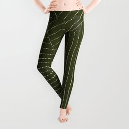 Lines (Olive Green) Leggings