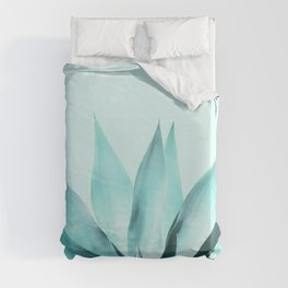Aqua Solar Agave Duvet Cover