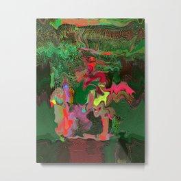 Matrix Waterfall in Swamp Metal Print