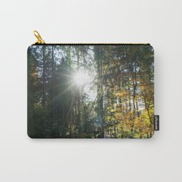 Sundown in a French forest in fall Carry-All Pouch