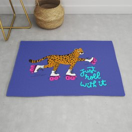 Just Roll With It Roller Skating Cheetah Rug