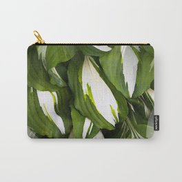 Beautiful Variagated Green Leaves Nature #decor #society6 #buyart Carry-All Pouch