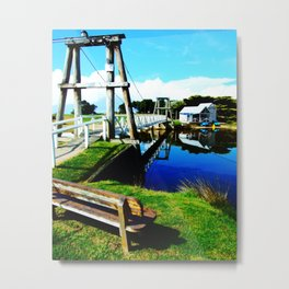 Footbridge Metal Print
