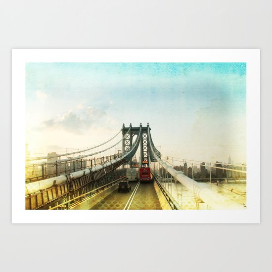 New York Rising 04 _ manhattan bridge Art Print