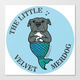 The Little Velvet Merdog Canvas Print