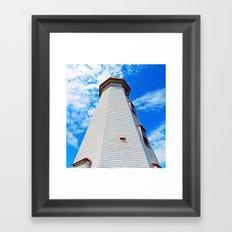 Lighthouse Reaches the Sky Framed Art Print