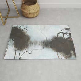 Into the Storm - Square Abstract Expressionism Rug