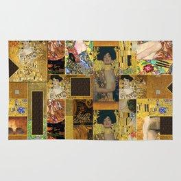 Klimt geometric collage Rug