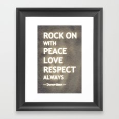 ... my life mantra ... Framed Art Print